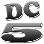 The DC5 logo is inspired from the Dave Clark 5's private plane insignia (seen on the nose and tail).