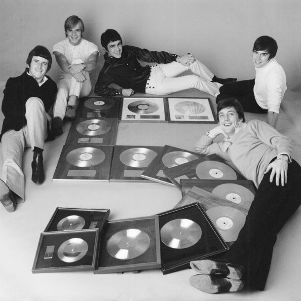 The Dave Clark Five with their Gold Albums.